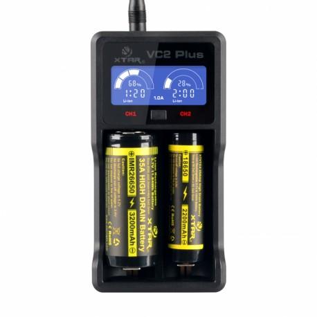 Φορτιστής VC2 Plus με USB καλώδιο XTAR